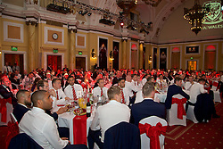CARDIFF, WALES - Monday, October 5, 2015: Wales' players during the FAW Awards Dinner at Cardiff City Hall. (Pic by David Rawcliffe/Propaganda)