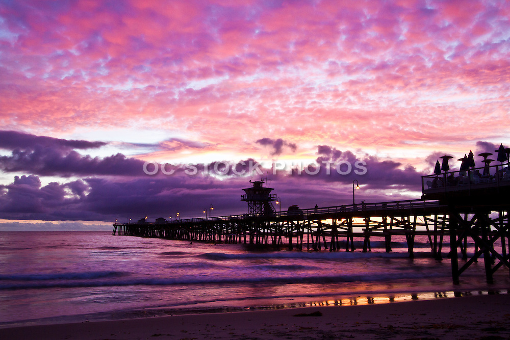 Purple Sky over San Clemente Pier