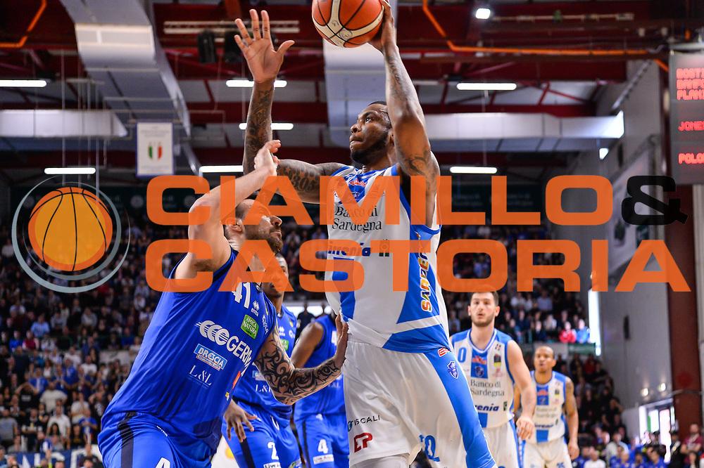 Shawn Jones<br /> Banco di Sardegna Dinamo Sassari - Germani Basket Leonessa Brescia<br /> Legabasket Serie A LBA PosteMobile 2017/2018<br /> Sassari, 08/04/2018<br /> Foto L.Canu / Ciamillo-Castoria