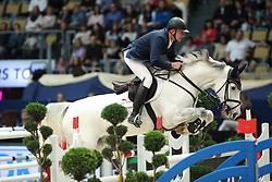 Zoer Albert, (NED), Gigolo<br /> DKB-Riders Tour<br /> Grand Prix Kreditbank Jumping München 2015<br /> © Hippo Foto - Stefan Lafrentz