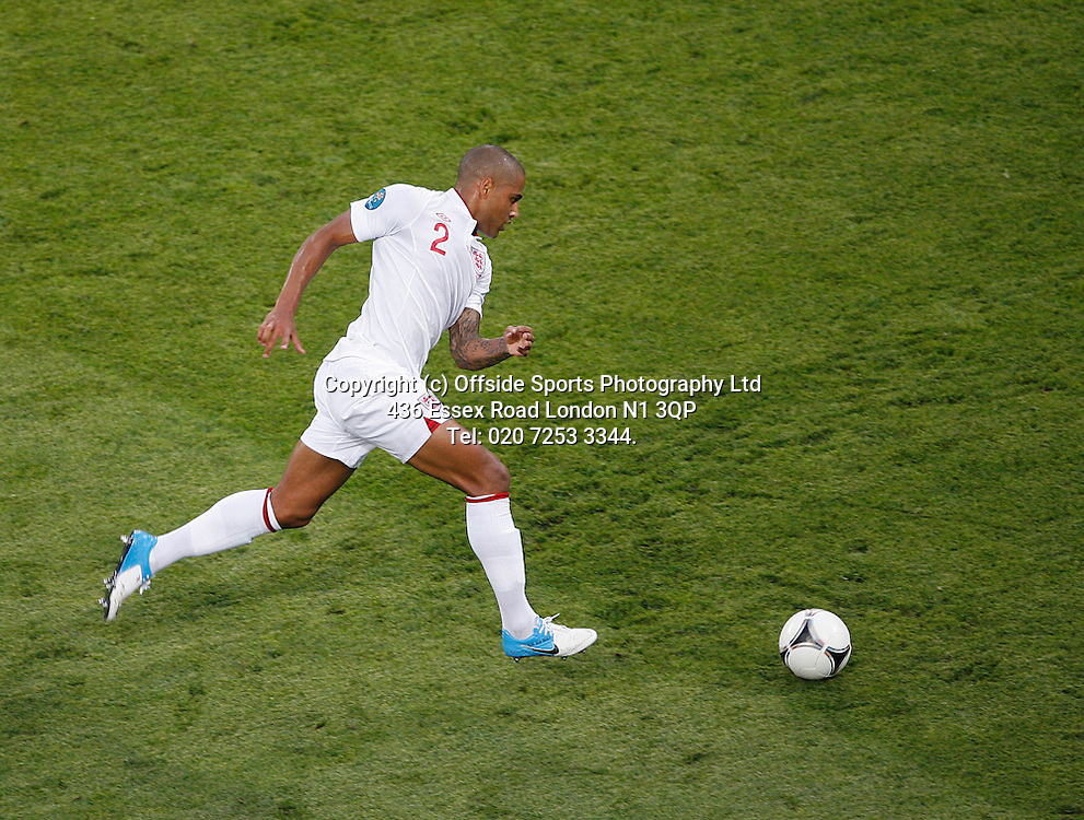 11/06/2012 European football championships. France v England.<br /> England defender Glen Johnson.<br /> Photo: Mark Leech.