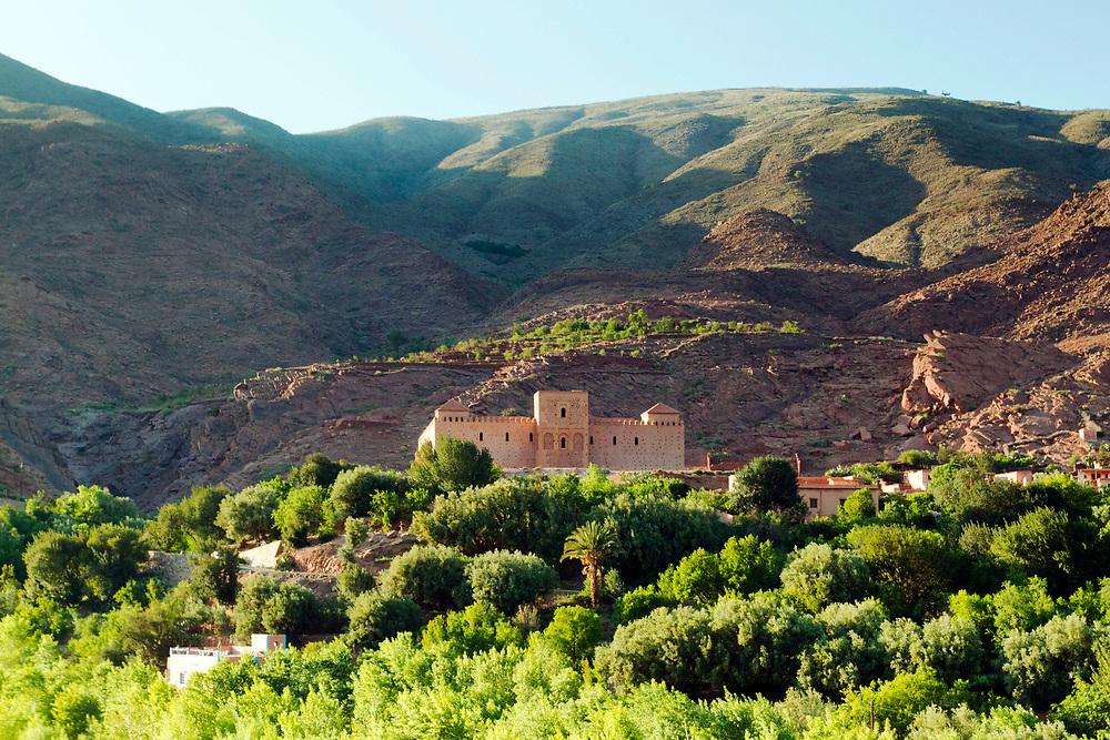 TIN MAL, MOROCCO - 29th April 2014 - Tin Mal Mosque building exterior, High Atlas Mountains, Southern Morocco.