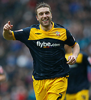 Photo: Steve Bond/Richard Lane Photography. MK Dons v Southampton. Coca-Cola Football League One. 20/03/2010. Rickie Lambert celebrates his 3rd