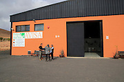 Aloe vera plants commercial cultivation Avisa factory building, Tiscamanita, Fuerteventura, Canary Islands, Spain