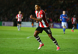 Ollie Watkins of Exeter City celebrates scoring a goal - Mandatory by-line: Gary Day/JMP - 18/05/2017 - FOOTBALL - St James Park - Exeter, England - Exeter City v Carlisle United - Sky Bet League Two Play-off Semi-Final 2nd Leg