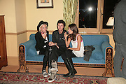 HON SOPHIA HESKETH, HENRY THOMAS AND MARINA HANBURY, Party for David LaChapelle and Ron Arad given by Ivor Braka. Cadogan sq. London. 10 October 2007. -DO NOT ARCHIVE-© Copyright Photograph by Dafydd Jones. 248 Clapham Rd. London SW9 0PZ. Tel 0207 820 0771. www.dafjones.com.