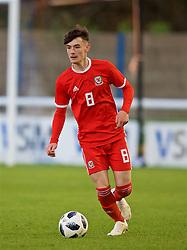 BANGOR, WALES - Monday, October 15, 2018: Wales' Dylan Levitt during the UEFA Under-19 International Friendly match between Wales and Poland at the VSM Bangor Stadium. (Pic by Paul Greenwood/Propaganda)