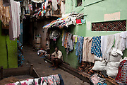 Laundry hung to dry. On a small walking only street off the main road, Jampettah Street.