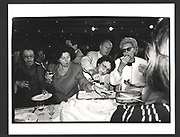 Le pique assiette after a Nina Ricci fashion show. Couture week. Paris 1991 Exhibition in a Box