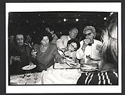 Le pique assiette after a Nina Ricci fashion show. Couture week. Paris 1991 Exhibition in a Box