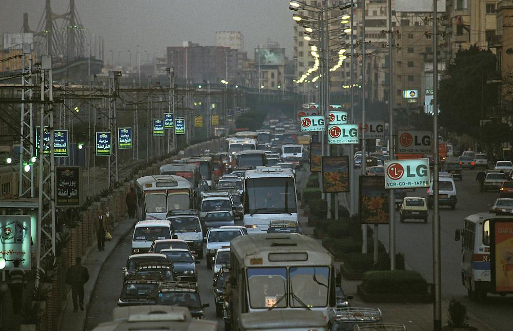 Cairo rush hour on Ramses Road