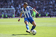 Brighton & Hove Albion defender Liam Rosenior (23) during the EFL Sky Bet Championship match between Aston Villa and Brighton and Hove Albion at Villa Park, Birmingham, England on 7 May 2017.