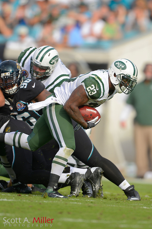 New York Jets running back Shonn Greene (23) during an NFL game against the Jacksonville Jaguars at EverBank Field on Dec 9, 2012 in Jacksonville, Florida. The Jets won 17-10...©2012 Scott A. Miller..