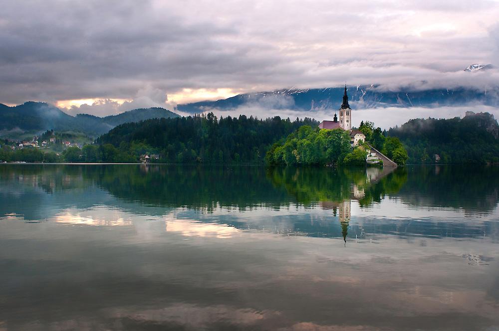 Church of San Martin.<br /> Bled Lake, Slovenia.