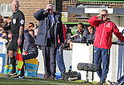 Crystal Palace Manager Alan Pardew during the The FA Cup Third Round match between Dover Athletic and Crystal Palace at Crabble Athletic Ground, Dover, United Kingdom on 4 January 2015. Photo by Phil Duncan.