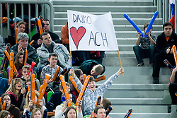 Fans during volleyball match between ACH Volley (SLO) and Zenit Kazan (RUS) in Playoffs 12 Round of 2011 CEV Champions League, on February 2, 2011 in Arena Stozice, Ljubljana, Slovenia. (Photo By Matic Klansek Velej / Sportida.com)