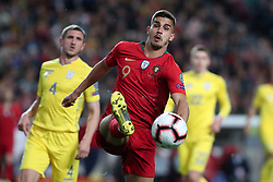 March 22, 2019 - Lisbon, Portugal - Portugal's forward Andre Silva vies with Ukraine's defender Sergii Kryvtsov during the UEFA EURO 2020 group B qualifying football match Portugal vs Ukraine, at the Luz Stadium in Lisbon, Portugal, on March 22, 2019. (Credit Image: © Pedro Fiuza/NurPhoto via ZUMA Press)
