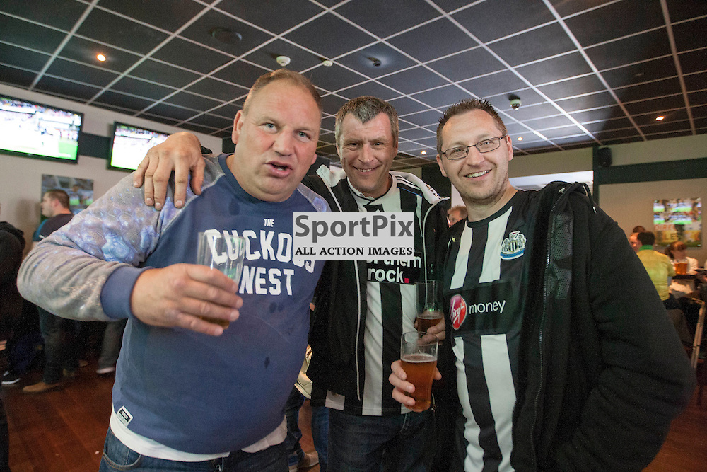 Fans before the Newcastle v West Ham, Barclays Premiership match at St James&rsquo; Park, Newcastle 24 May 2014<br />