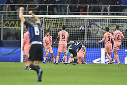 November 6, 2018 - Milan, Milan, Italy - Mauro Icardiof Inter Milan scores first goal during the UEFA Champions League Group Stage match between Inter Milan and Barcelona at Stadio San Siro, Milan, Italy on 6 November 2018. Photo by Giuseppe Maffia. (Credit Image: © AFP7 via ZUMA Wire)