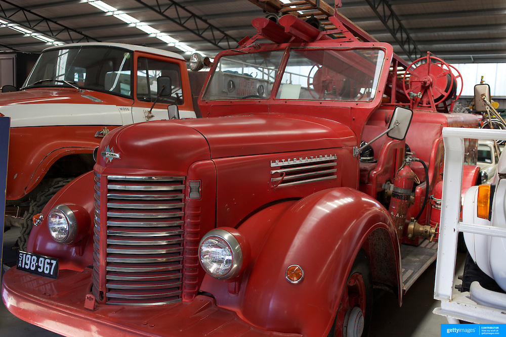 A vintage Fire Engine at the National Transport and Toy Museum. Wanaka. .This fascinating collection houses one of the largest private collections in the world..The museum is the result of one man's dream. Owner Gerald Rhodes  has spent 50 years of collecting and preserving pieces from the past. The transport collection boasts rare and unusual aircraft, cars, trucks, motorcycles, fire appliances, military vehicles and tractors and includes 600 vehicles, 30 fire engines, 30,000 toys, dolls houses and rocking horses. .Wanaka, Otago, New Zealand. 1st April  2011, Photo Tim Clayton.