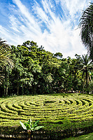 Labirinto no Parque Malwee. Jaraguá do Sul, Santa Catarina, Brasil. / Labyrinth at Malwee Park. Jaragua do Sul, Santa Catarina, Brazil.