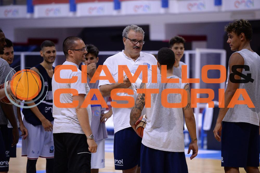 Allenamento Enel basket Brindisi, Basket SerieA 2016-2017, 18/08/2016, Brindisi. <br /> Nella Foto: Meo Sacchetti<br /> Foto Ciamillo