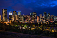 Downtown Calgary from Sunnyside Bank Park @ Night