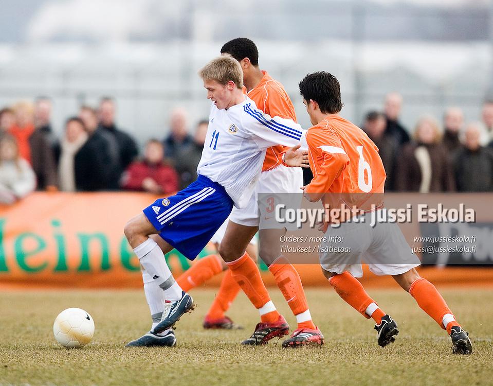 Akseli PELVAS.&#xA;U17 Suomi - Hollanti, EM-jatkokarsintaturnaus, Tegelen, Hollanti 24.3.2006&#xA;Photo: Jussi Eskola<br />