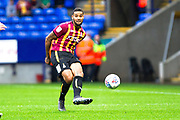 Bradford City defender Ben Richards-Everton pass the ball to team-mate during the EFL Trophy match between Bolton Wanderers and Bradford City at the University of  Bolton Stadium, Bolton, England on 3 September 2019.