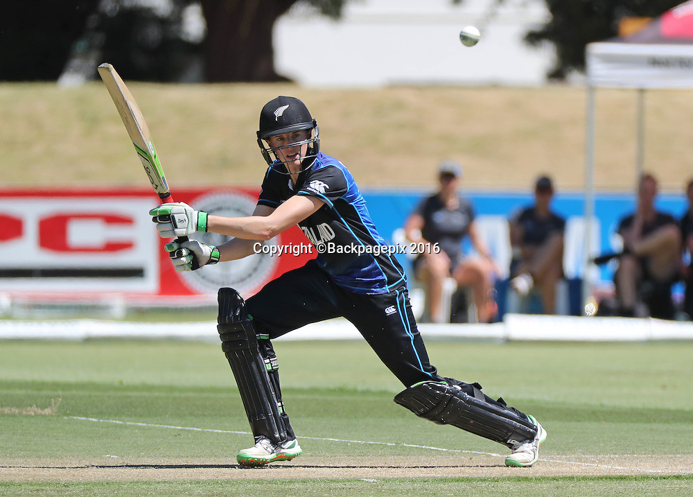 Amy Satterthwaite of New Zealand bats during the 2016 International ODI Womens cricket match between South Africa and New Zealand at Boland Park, Paarl on 19 October 2016 ©Chris Ricco/BackpagePix