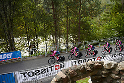 Bepink Team take to the course at UCI Road World Championships 2018 - Women's Team Time Trial, a 54 km team time trial in Innsbruck, Austria on September 23, 2018. Photo by Sean Robinson/velofocus.com