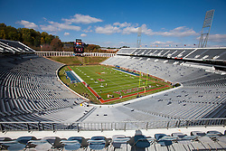 Oct 22, 2011; Charlottesville VA, USA; General view of Scott Stadium before the game between the Virginia Cavaliers and the North Carolina State Wolfpack.  Mandatory Credit: Jason O. Watson-US PRESSWIRE