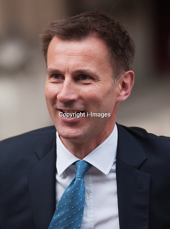 Culture Secretary Jeremy Hunt arrives at The Royal Courts of Justice to give evidence to The Leveson Inquiry on Thursday 31st  May  2012 in London, Photo by Ki Price/ i-Images