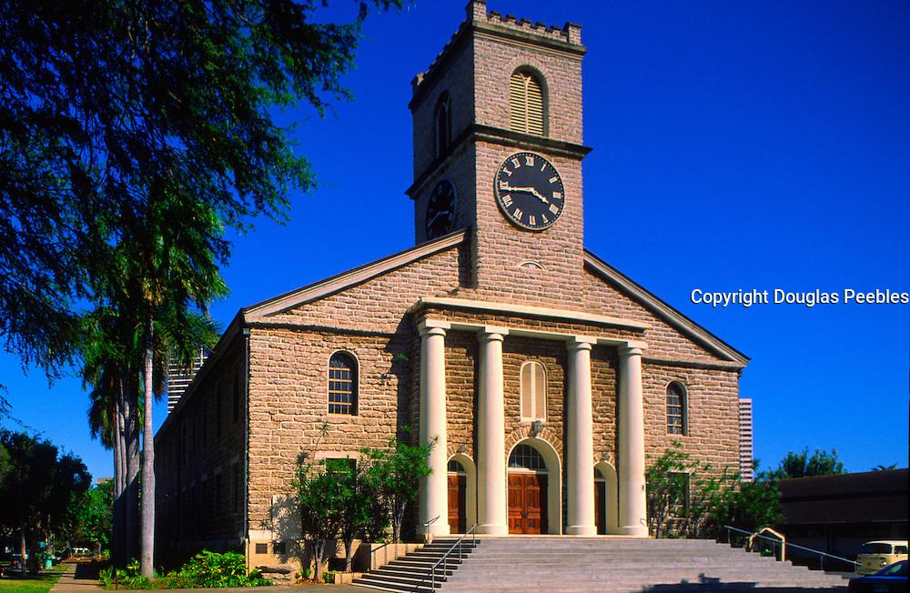 Kawaihao Church, Honolulu, Oahu, Hawaii, USA<br />