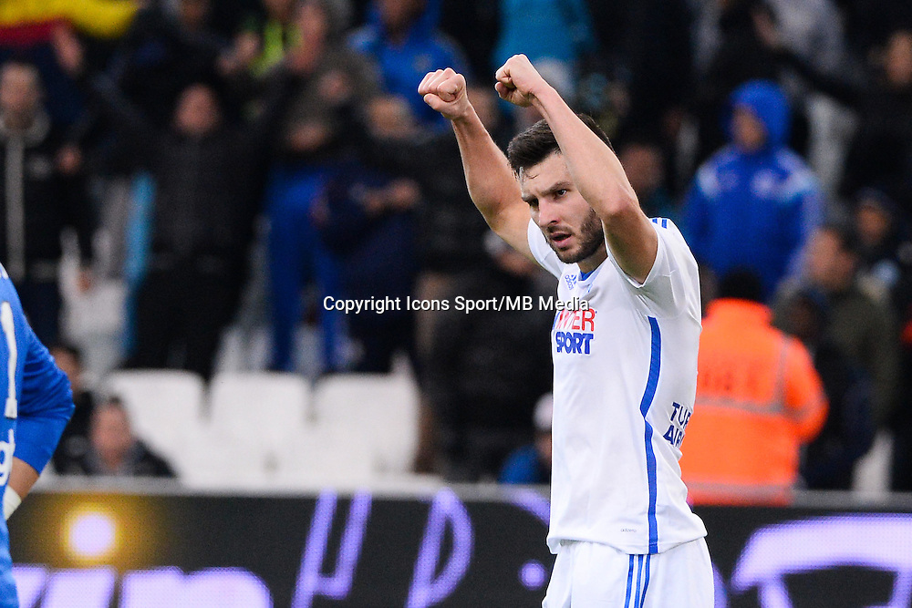 Joie Andre Pierre GIGNAC - 07.12.2014 - Marseille / Metz - 17eme journee de Ligue 1 -<br />