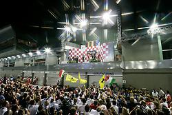 Motorsports / Formula 1: World Championship 2010, GP of Singapore, podium medal ceremony