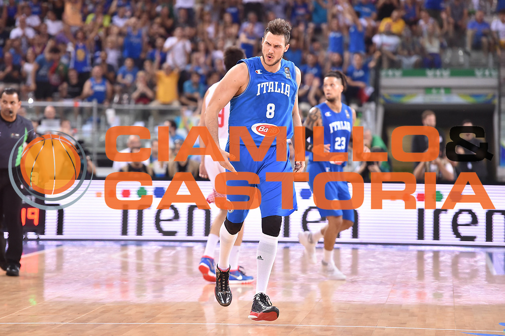 DESCRIZIONE: Torino FIBA Olympic Qualifying Tournament Finale Italia - Croazia<br /> GIOCATORE: Danilo Gallinari<br /> CATEGORIA: Nazionale Italiana Italia Maschile Senior<br /> GARA: FIBA Olympic Qualifying Tournament Finale Italia - Croazia<br /> DATA: 09/07/2016<br /> AUTORE: Agenzia Ciamillo-Castoria