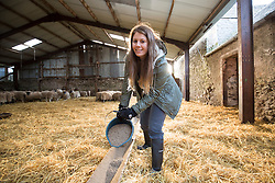 Anna out at Kate Roswell's farm at Hundleshope. Story on the farm in Peebleshire about the current state of women in farming.