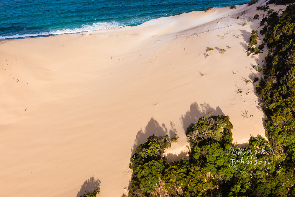 Aerial photograph of Carlo Sandblow, Rainbow Beach, Great Sandy National Park, Sunshine Coast, Queensland, Australia