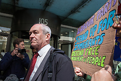 London, UK. 30th April 2019. Richard Corbett MEP arrives for a Labour Party NEC meeting to confirm plans for Labour's EU election manifesto, including its stance with regard to a second referendum.
