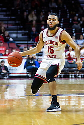 NORMAL, IL - February 15: Lijah Donnelly during a college basketball game between the ISU Redbirds and the Valparaiso Crusaders on February 15 2020 at Redbird Arena in Normal, IL. (Photo by Alan Look)