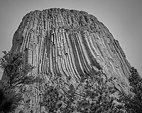 Devils Tower. Image taken with a Nikon D200 camera and 18-70 mm kit lens (ISO 100, 38 mm, f/5.6, 1/400 sec).