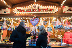 Traditional Christmas Market at Alexanderplatz in Berlin in 2017 in Germany