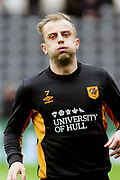 Hull City midfielder Kamil Grosicki (7) warms up prior to  the EFL Sky Bet Championship match between Hull City and Cardiff City at the KCOM Stadium, Kingston upon Hull, England on 28 April 2018. Picture by Mick Atkins.