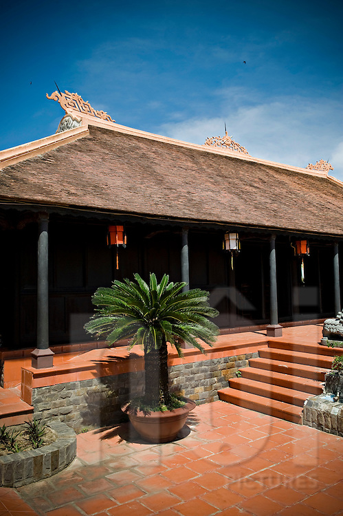 Traditional architecture of an old vietanamese house in Nha Trang, Vietnam, Asia.