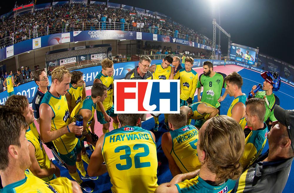 BHUBANESWAR - The Odisha Men's Hockey World League Final . Match ID 02. Australia v India.  Huddle   .WORLDSPORTPICS COPYRIGHT  KOEN SUYK