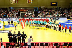 28.10.2018, Raiffeisen Sportpark, Graz, AUT, EHF, Euro Cup, Österreich vs Schweden, im Bild das Spielfeld // during the EHF Euro Cup Match between Austria and Sweden at the Raiffeisen Sportpark, Graz, Austria on 2018/10/28. EXPA Pictures © 2018, PhotoCredit: EXPA/ Sebastian Pucher