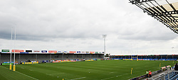 General view of Sandy Park prior to kick-off.  - Mandatory byline: Alex Davidson/JMP - 07966386802 - 05/09/2015 - RUGBY - Sandy Park Stadium -Exeter,England - Exeter Chiefs v Gloucester Rugby - Pre-Season Friendly