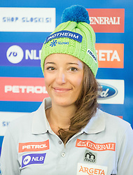 Katarina Lavtar during official presentation of the outfits of the Slovenian Ski Teams before new season 2015/16, on October 6, 2015 in Kulinarika Jezersek, Sora, Slovenia. Photo by Vid Ponikvar / Sportida