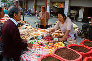 China, Xian, outdoor food street market